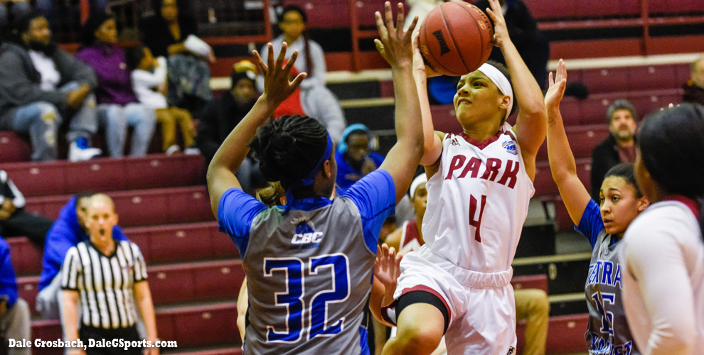 Kenya Lindo led Park with 18 points in the Pirates' loss at The Breck to Harris-Stowe.