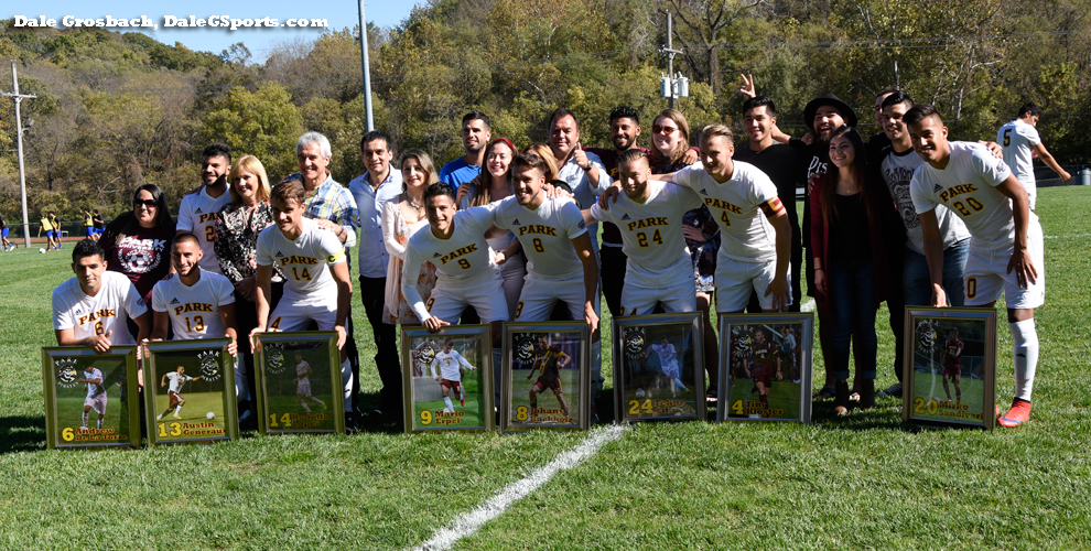 Park's eight seniors contributed to a 6-2 win over Williams Baptist on senior day Oct. 22 at Julian Field.