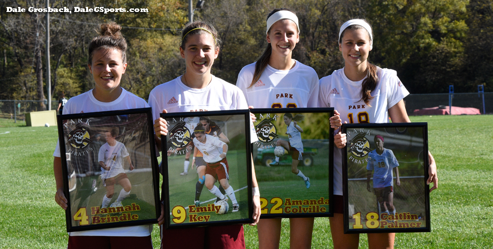 Park sent its women's soccer seniors off with a 5-1 win over Williams Baptist at Julian Field.