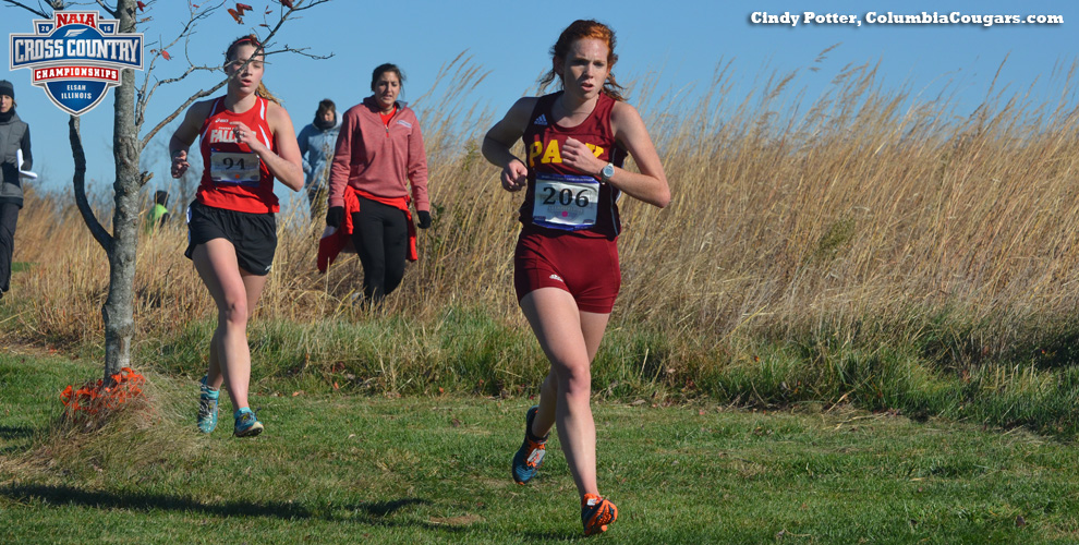Senior Erin Esry ran her final race for the Pirates Saturday, in the NAIA National Championship at Elsah, Illinois.