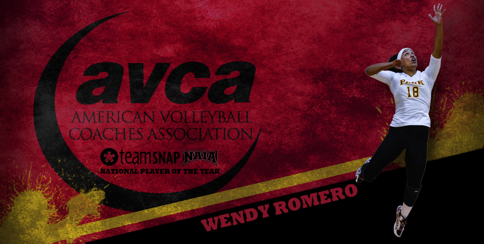 Wendy Romero picked up a second award in as many days as TeamSnap/AVCA NAIA National Player of the Year.