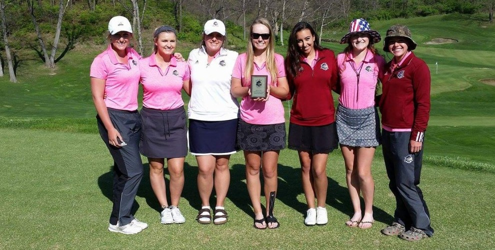 Park's women's golf team won at home for the first time in school history in dominant fashion, by 37 strokes over SGU.