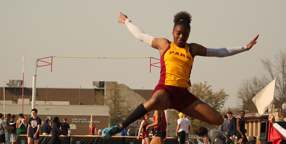 Jerosan Fletcher won both the long jump and the 200-meter dash Friday at the AMC Championships in Illinois.
