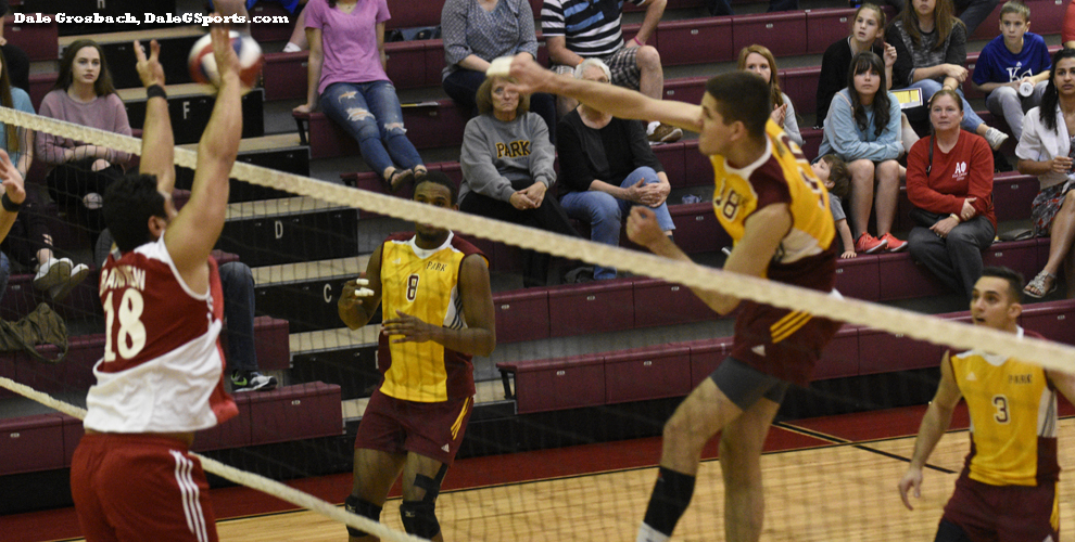 The Pirates' Oscar Tuero has 18 kills hitting for .667 in the win over the Vikings.