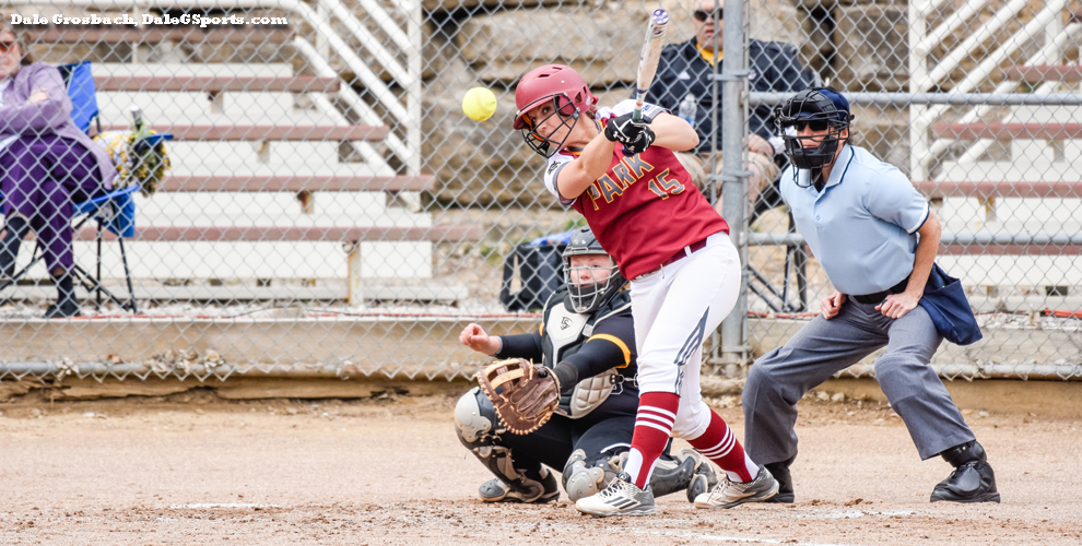 The Pirates' Brooke Kunkel had three hits against the Lions in game two.