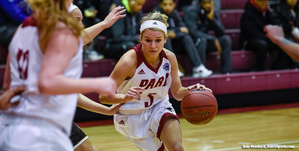 Brook Vaughan's 13 led Park in a 75-66 loss to No. 24 Lindenwood-Belleville.