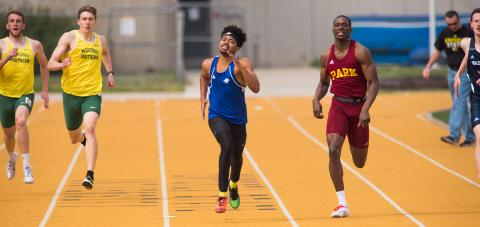 Park's men's track team finished third at the AMC Championships in Greenville, Ill.