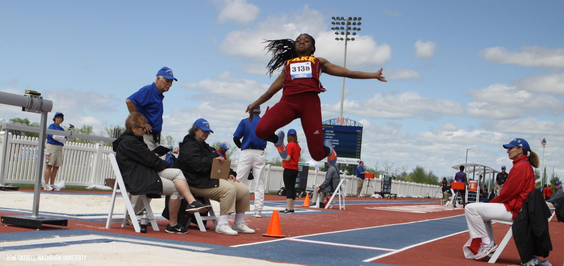 Jerosan Fletcher was fifth in the long jump Thursday at the KU Relays.