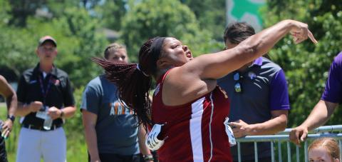 Aaliyah Brown's All-America throw of 14.14 meters was good for seventh in the NAIA shot put championship.