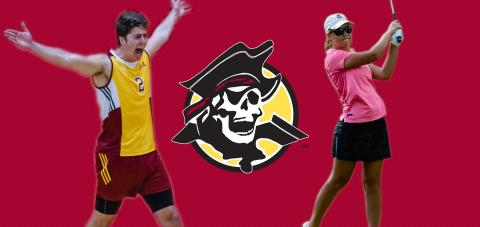 Victor Neves and Makenzie Shivers were named Academic All-Americans by CoSIDA.