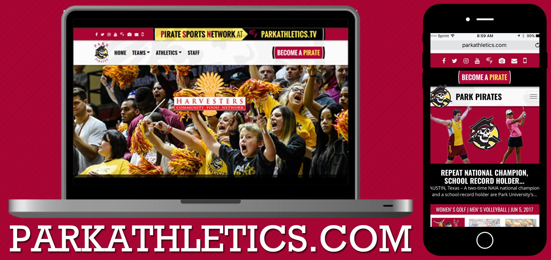 Park University Unveils New-Look, Responsive ParkAthletics.com