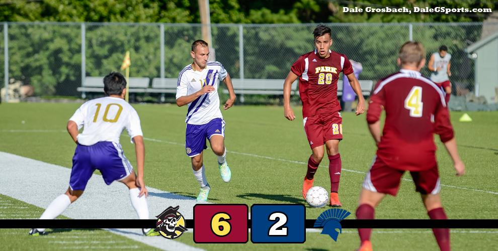 The Pirates' Mirko Sandivari had one goal and one assist in the win over the Spartans.