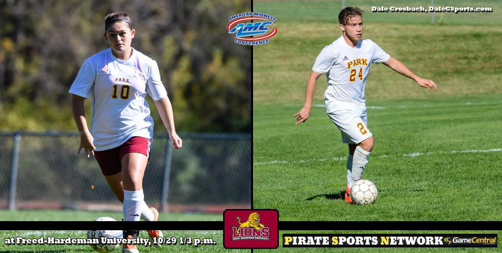 The Pirates men's and women's soccer teams head to Henderson, Tennessee, to take on Freed-Hardeman University.