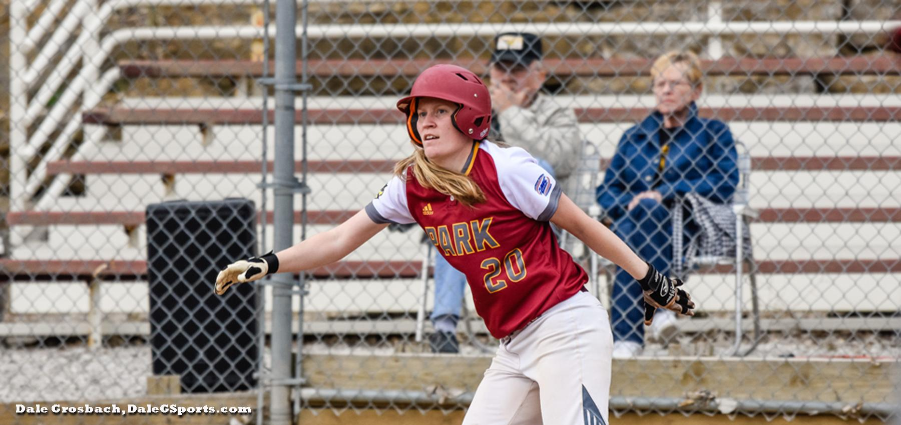 The Pirates' Hailey Costello hit a homerun in game one in the win over the Eutectics.