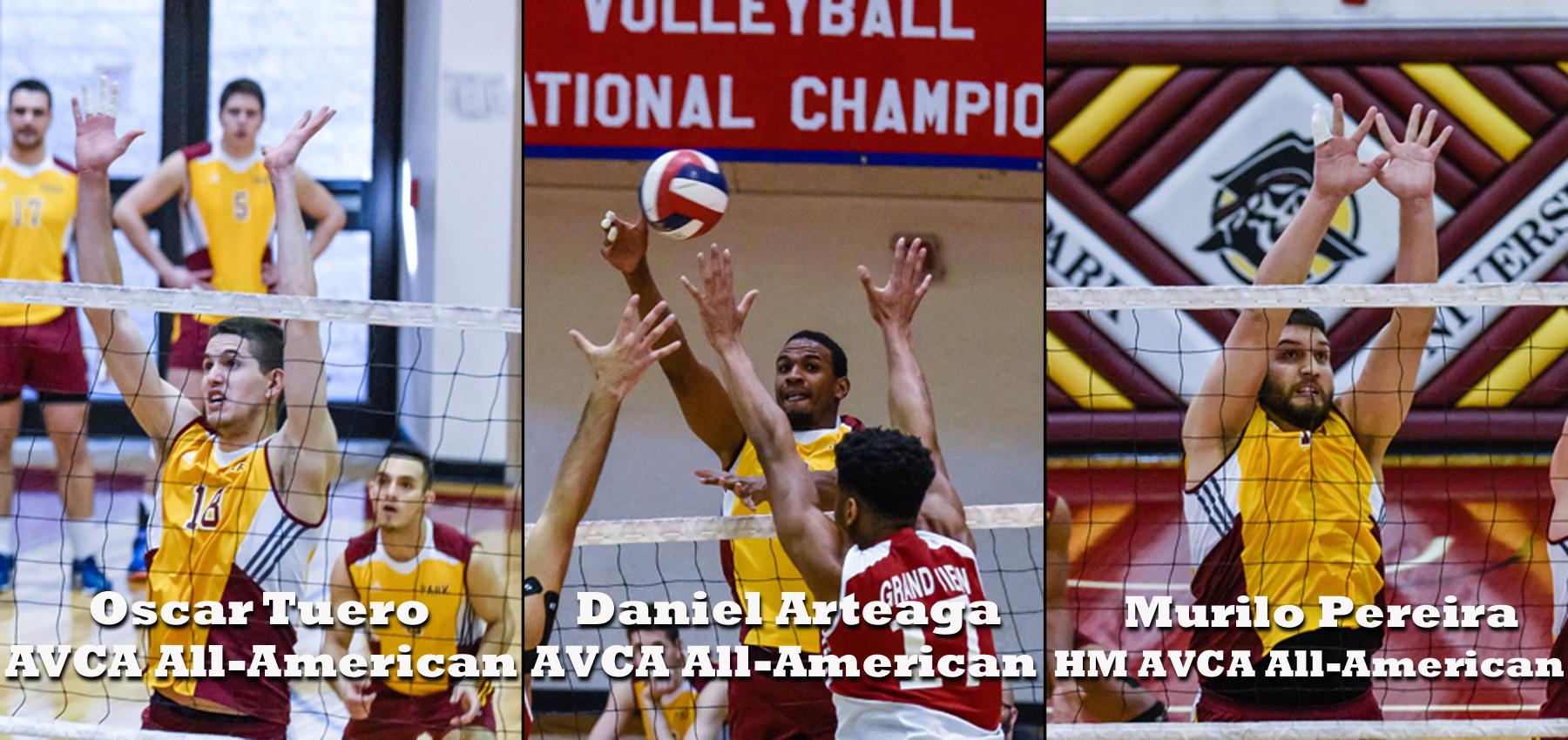 Three Pirates named to AVCA All-American teams.
