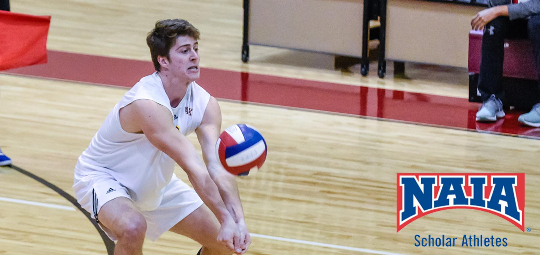Victor Neves was named to the 2017 Daktronics-NAIA Men's Volleyball Scholar-Athlete Team.
