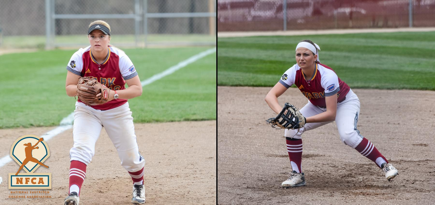 Land and Carr Named to NFCA NAIA Midwest Region Teams