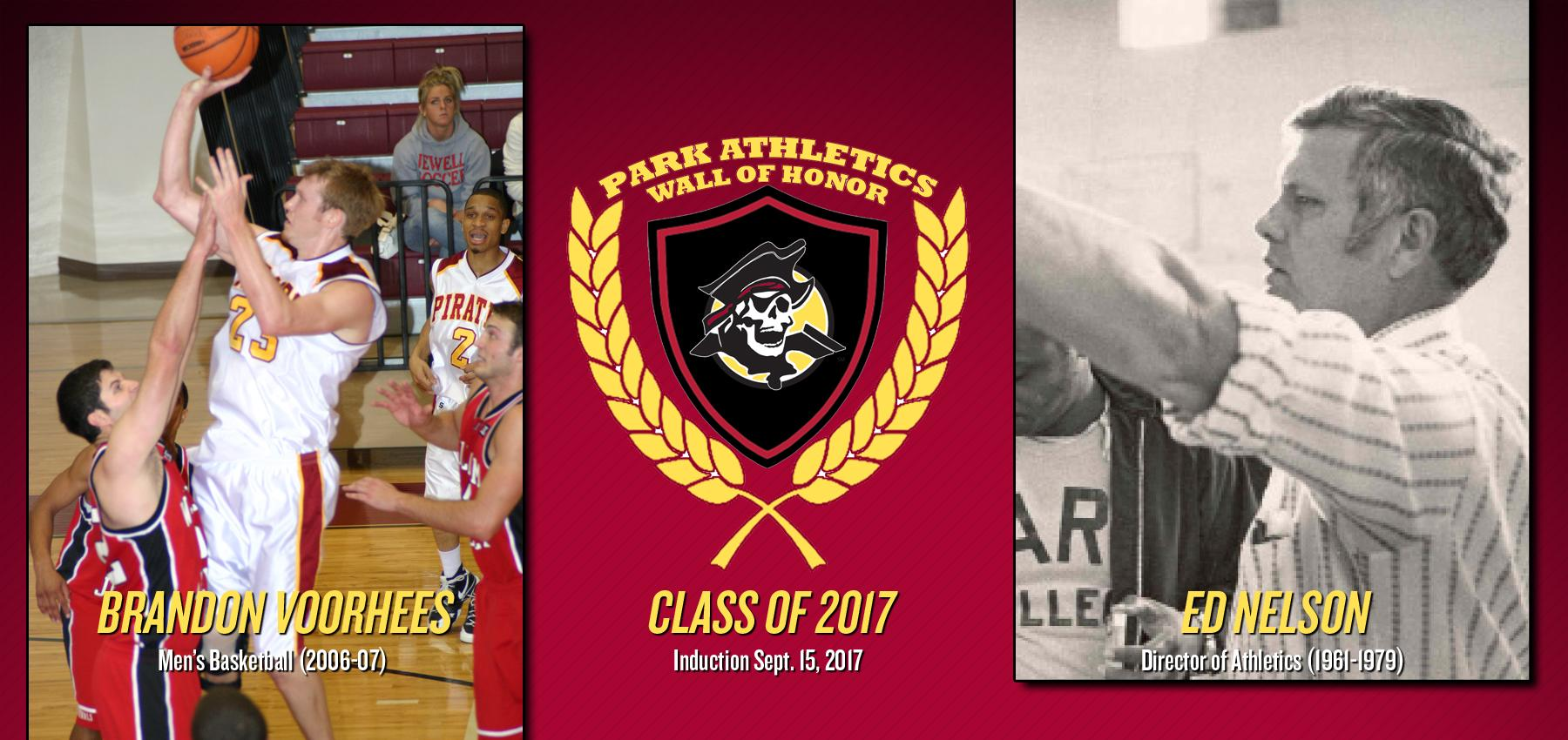 Brandon Voorhees and Ed Nelson will be inducted in to the Park Athletics Wall of Honor Sept. 15.