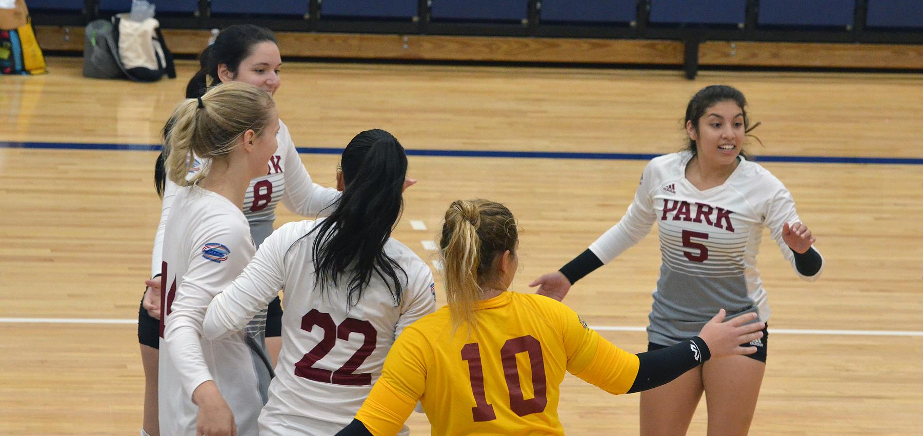 Park got out of Columbia with three wins in four tries, including Saturday's finale, a four-set triumph over Olivet Nazarene.