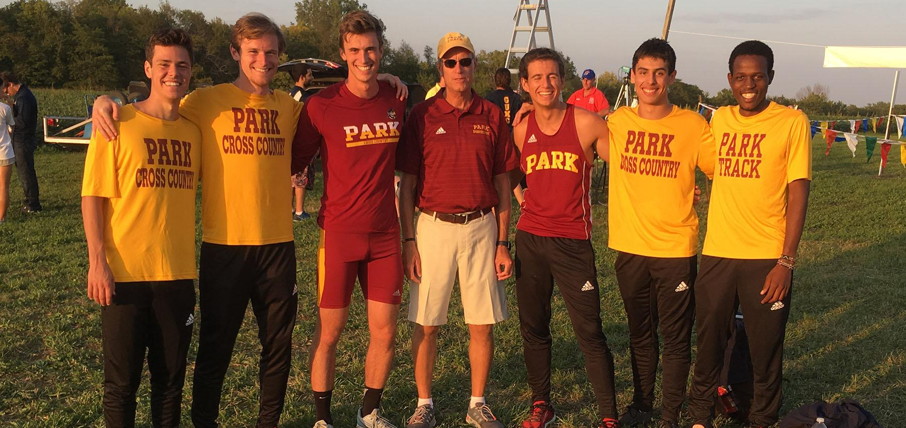 Men finish first at Graceland University Invitational in Lamoni, Iowa.