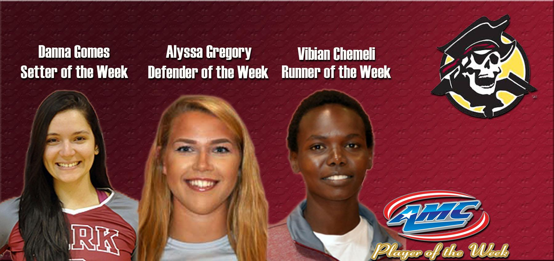 Gregory, Gomes, and Chemeli All Earned AMC Weekly Award