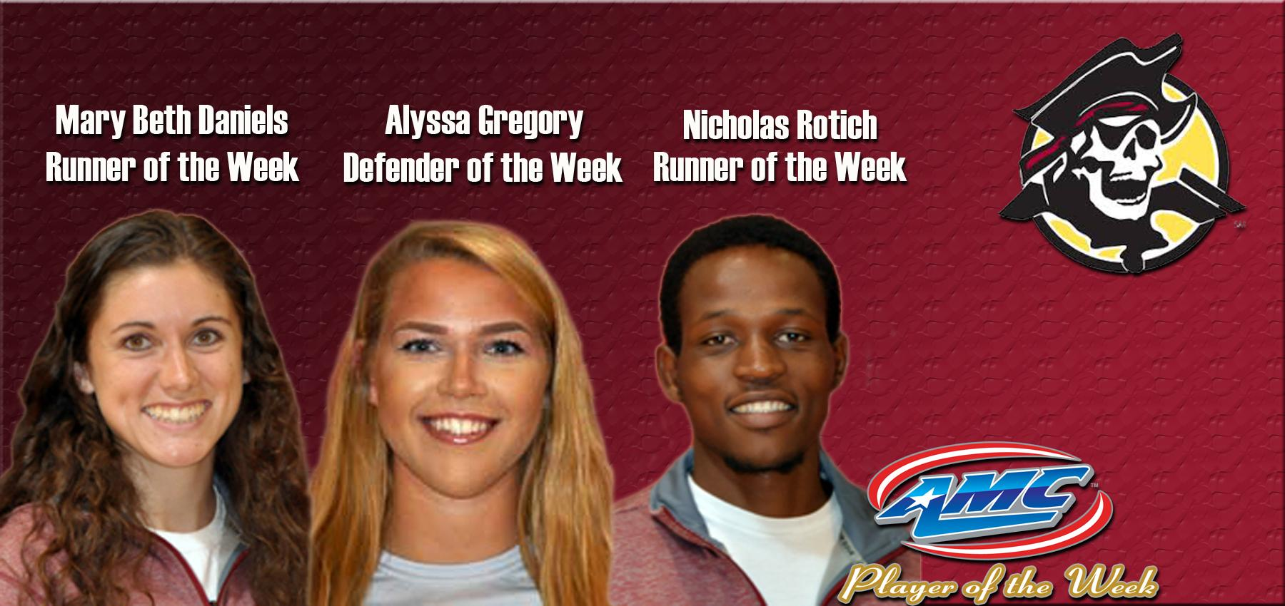 Gregory, Daniels and Rotich All Earned AMC Weekly Award