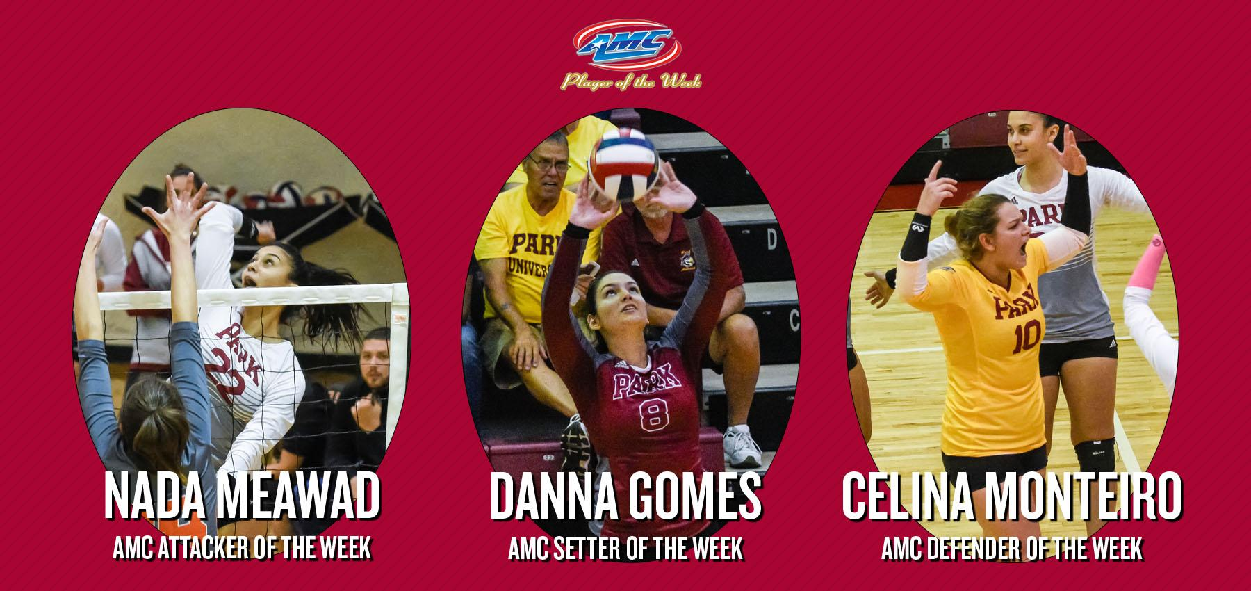 Pirates Strike Again for Three Conference Volleyball Awards, Sweeping Attacker, Defender and Setter of the Week in the AMC