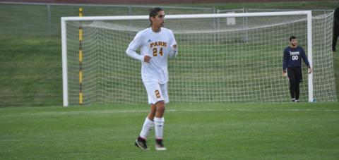 Rafael Pinheiro scored his first Park goal against St. Louis College of Pharmacy.